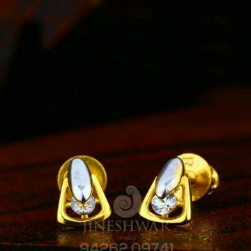 18kt Plain Gold Solitar Stone Tops STG -0102