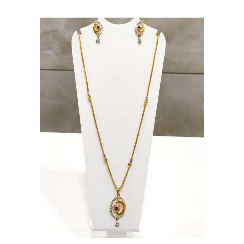22 K Gold Fancy Pendant Set. NJ-P0765