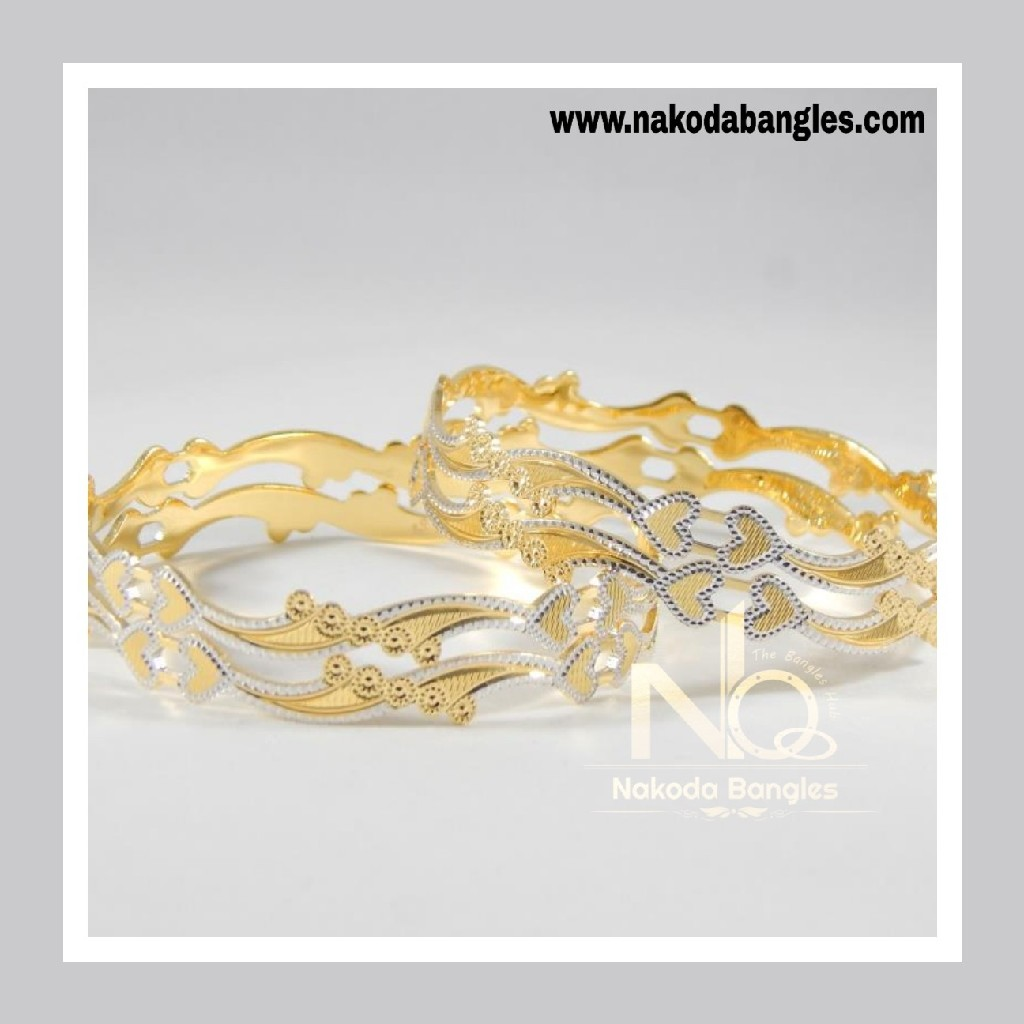 916 Gold CNC Bangles NB - 709