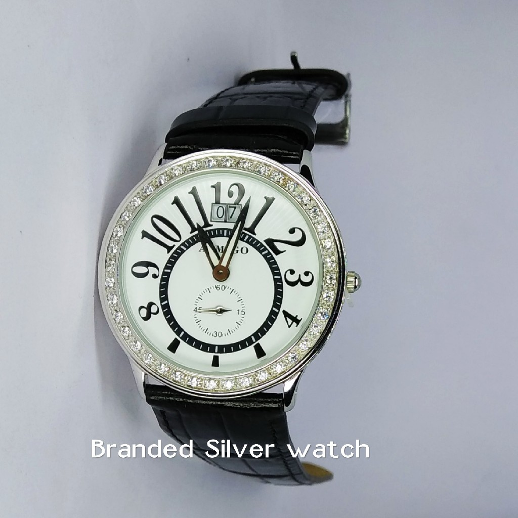 92.5 sterling silver exclusive leather watch ml-014