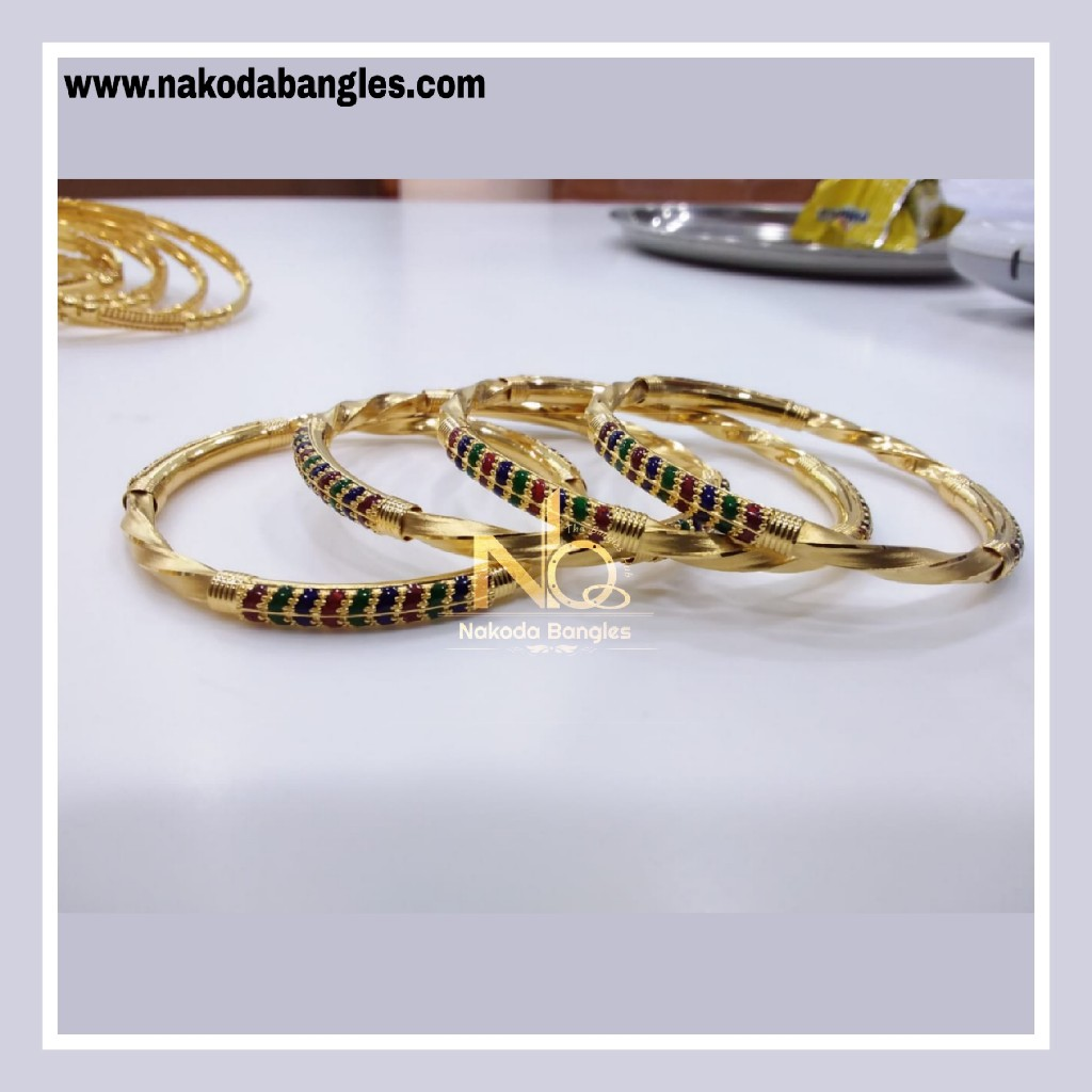 916 Gold Patra Bangles NB - 847