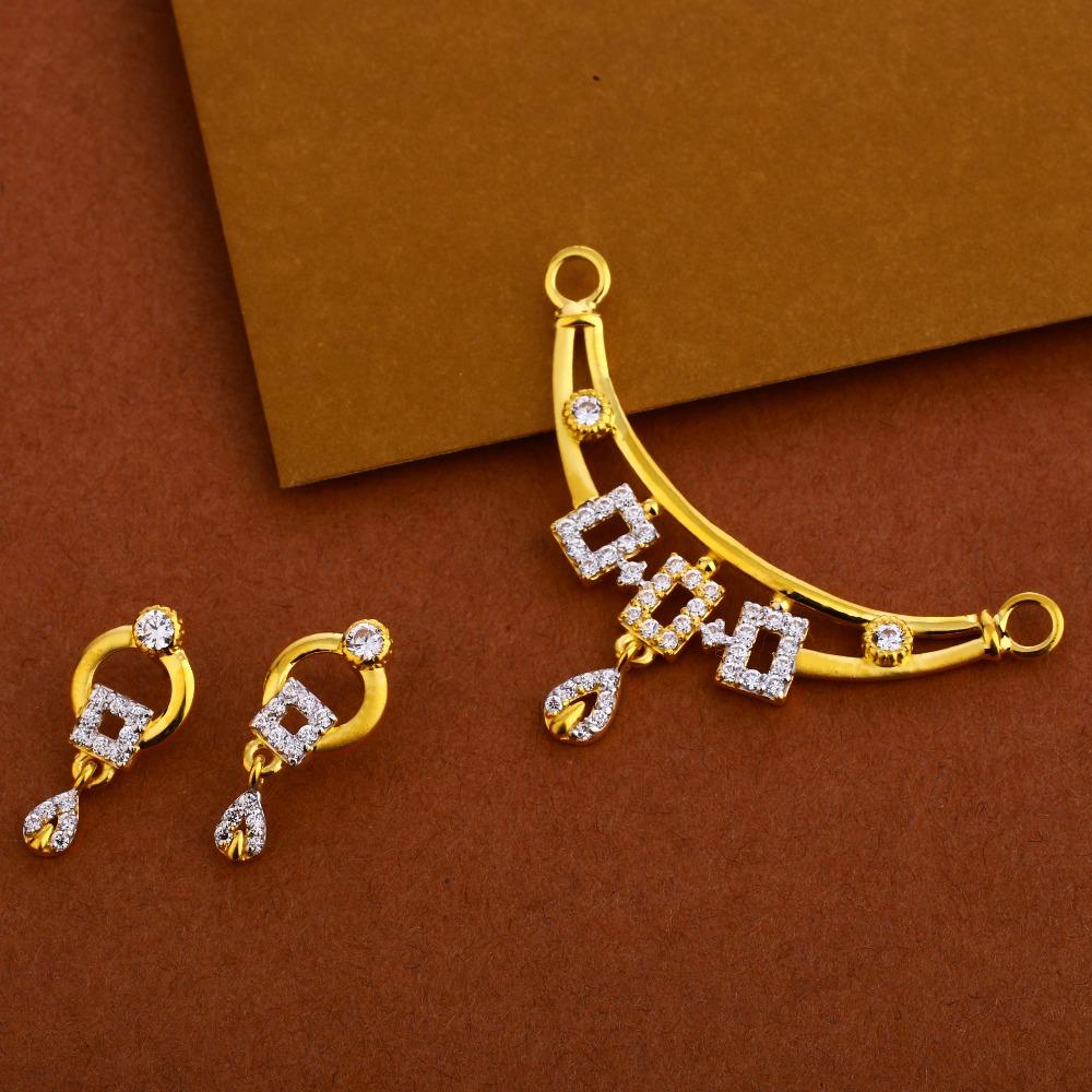 22KT Gold Ladies Fancy  Mangalsutra Pendant MP253