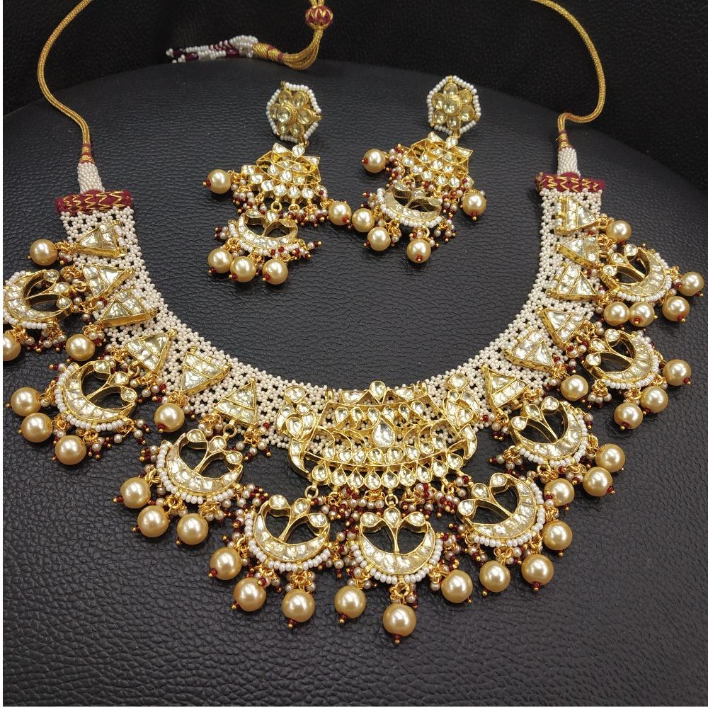 Designer Moti Work Bridal Necklace Set
