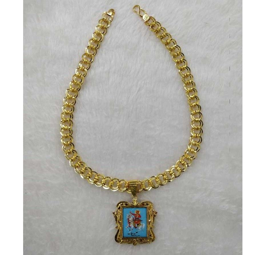 22KT Gold Indian Gents Pendant Chain
