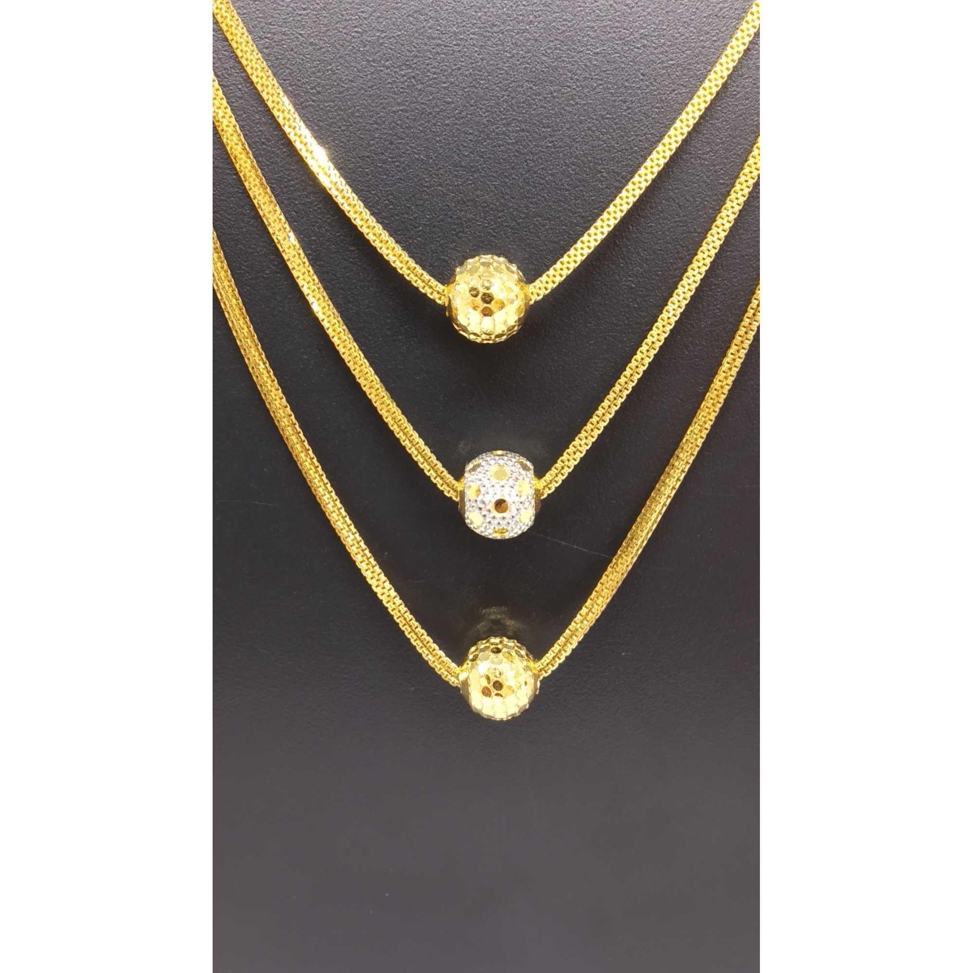 22 KT GOLD 3 STEP VERTICAL BOLLS DESIGNED DOKIYA