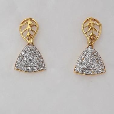 916 cz gold earrings