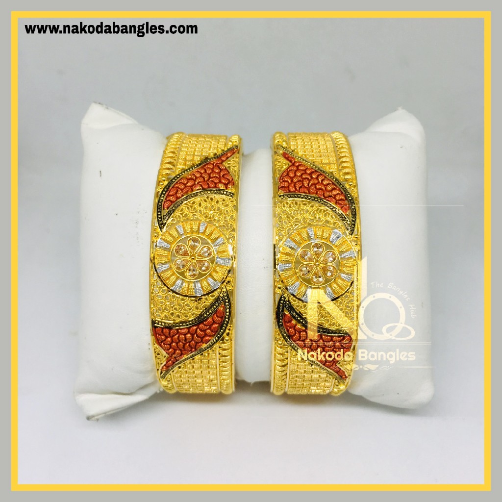916 Gold Calcutty Bangles NB - 434