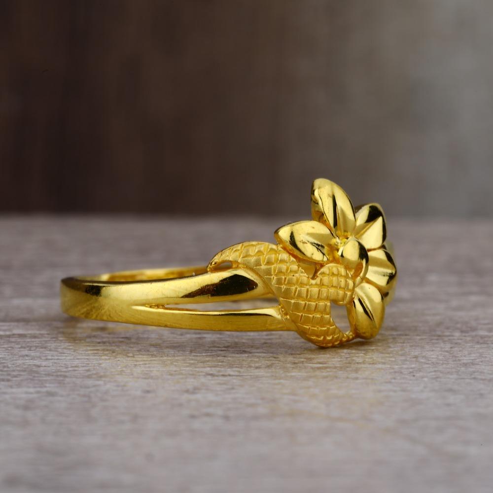 Ladies 916 Gold Casting Unique Ring -LPR64