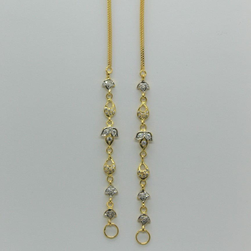 22Kt Gold light weight Earchain
