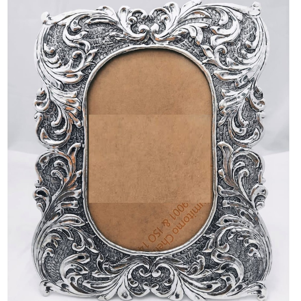 925 Pure silver photo frame in deep carvings in antique pO-171-17