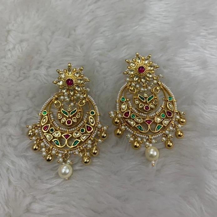 Artificial Rajwadi Earrings for Wedding