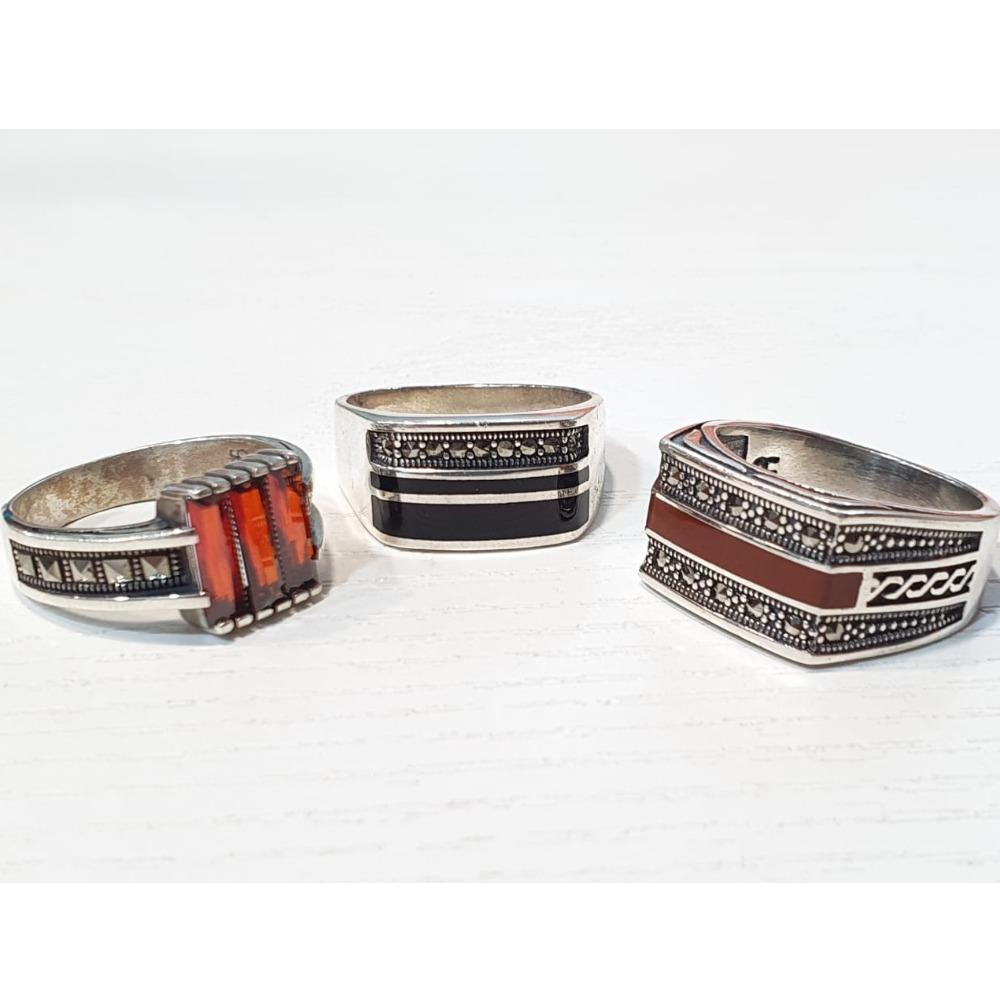 925 Silver Fancy Gents Ring VJ-GR001