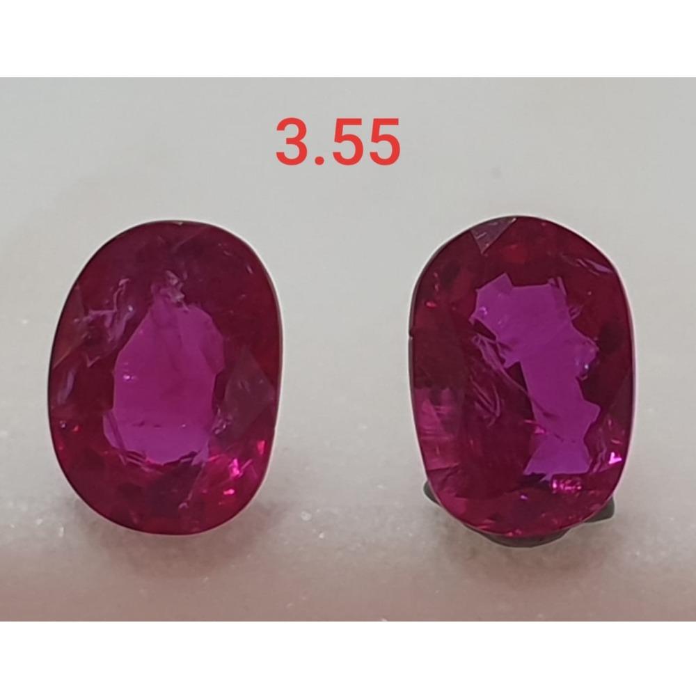 3.55ct Oval Shape Pink Ruby-Manek VG-R27