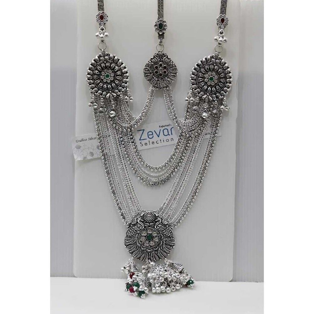 Silver Triple Hook Oxodised Antique Juda