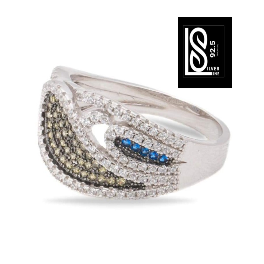 92.5 round fancy silver ring