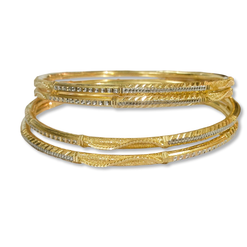 Artistic designed 4 pipe gold copper kadli bangle
