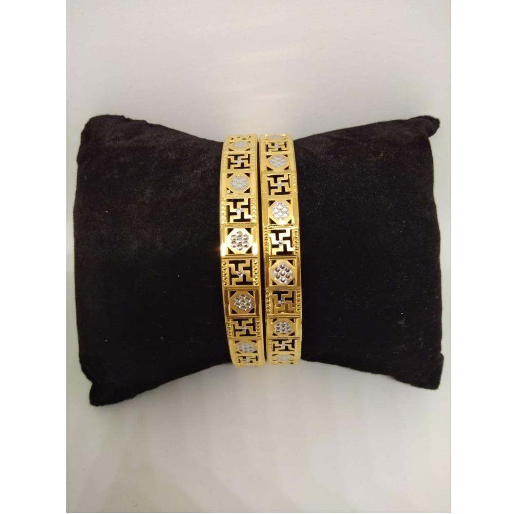 916 gold attractive swastik design copper kadli vn-b011