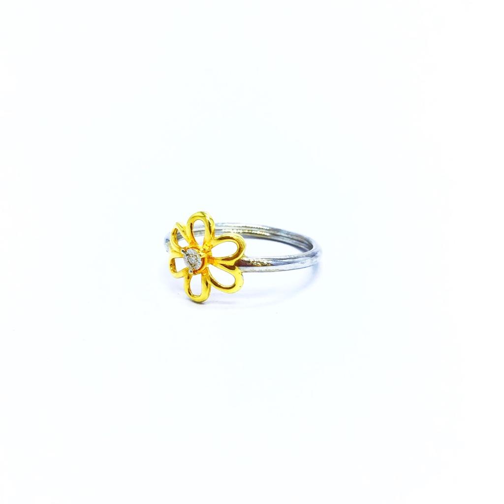 REAL DIAMOND FANCY FLOWER RING