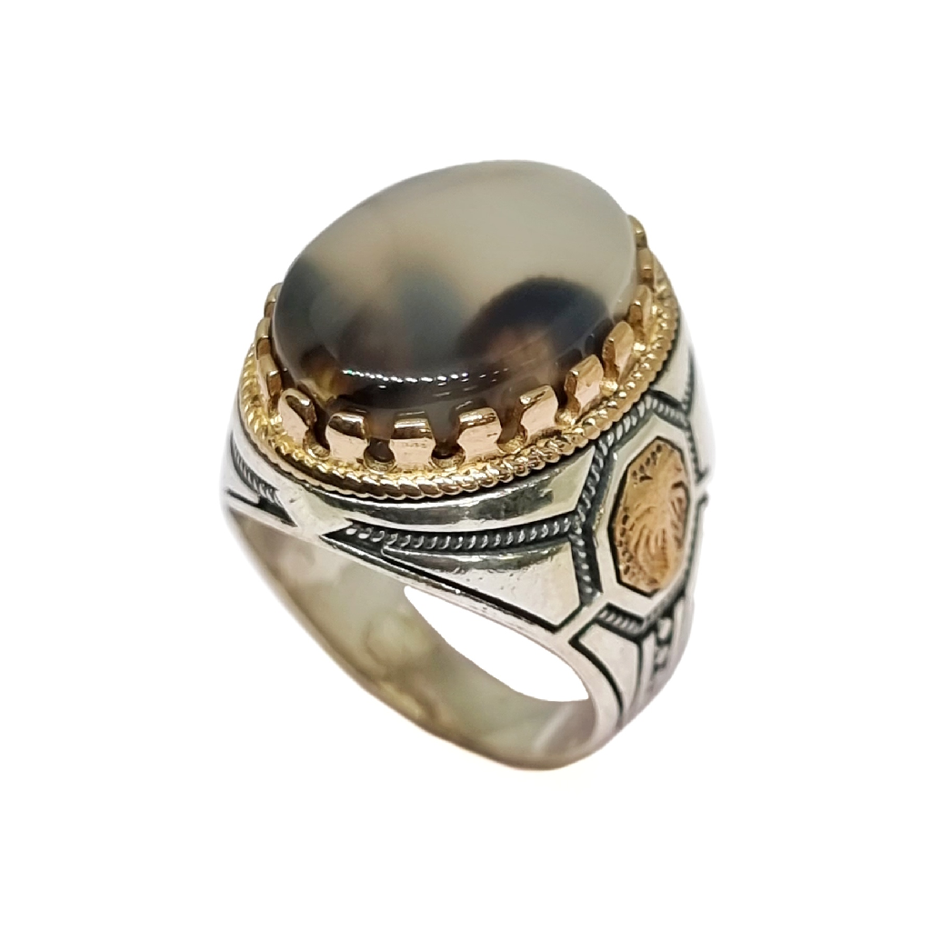 925 Sterling Silver Designer Gents Ring MGA - GRS2506