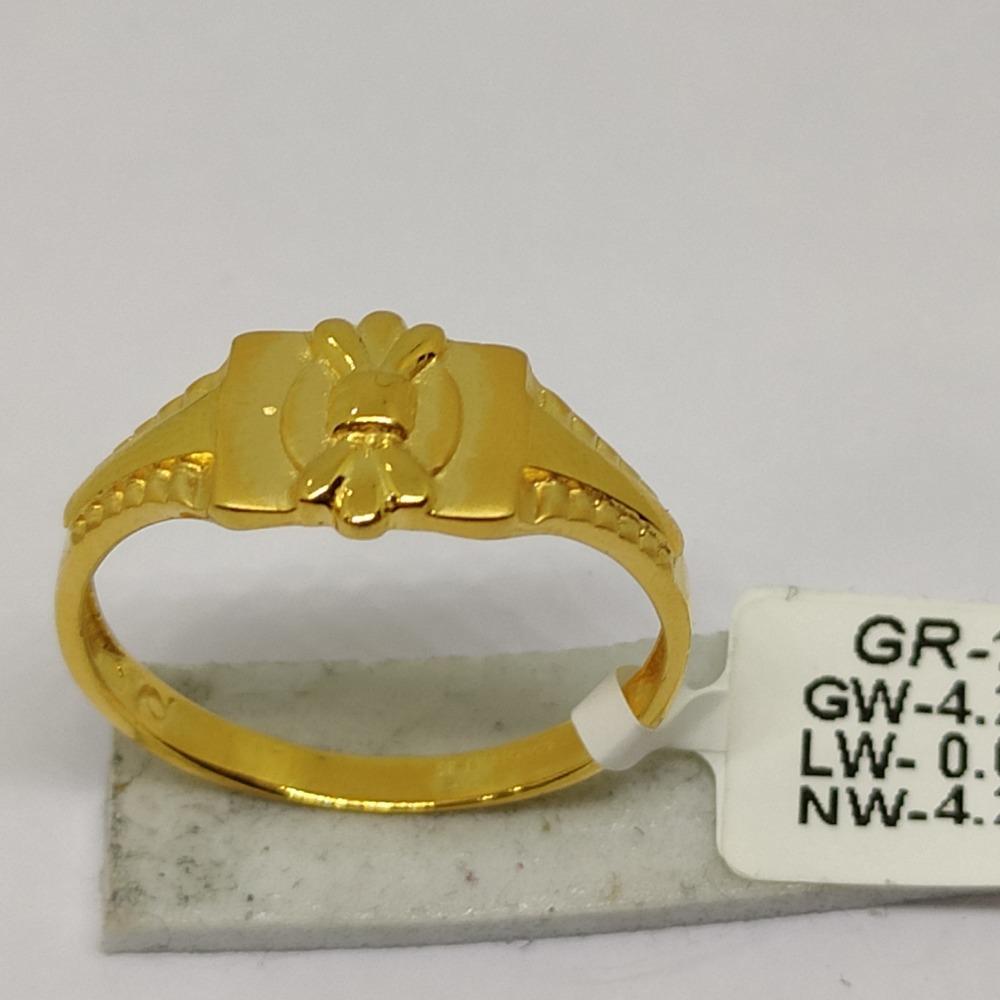 916 Gold CZ Gents Ring sOG-R96