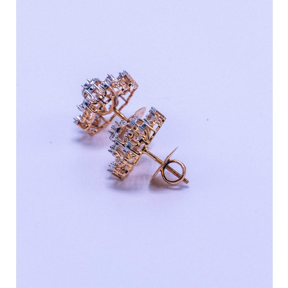 18k  gold diamond earring tops agj-er-180