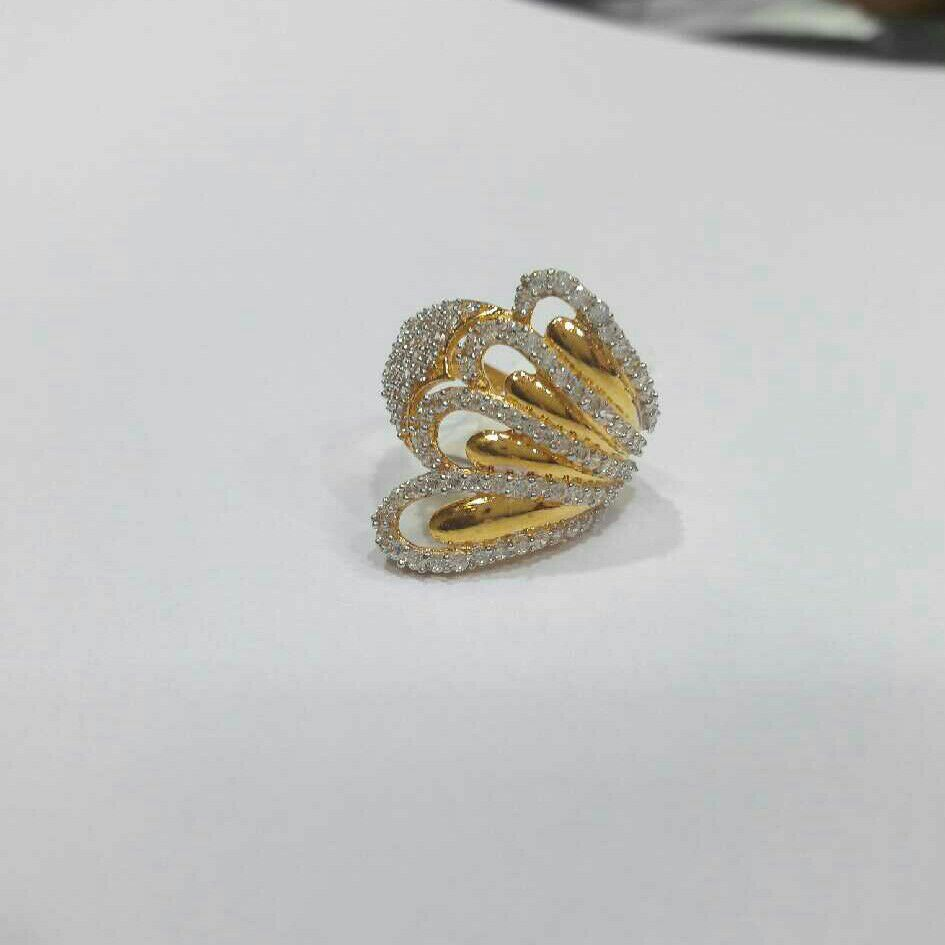 22K / 916 Gold Indian Ladies Butterfly Ring