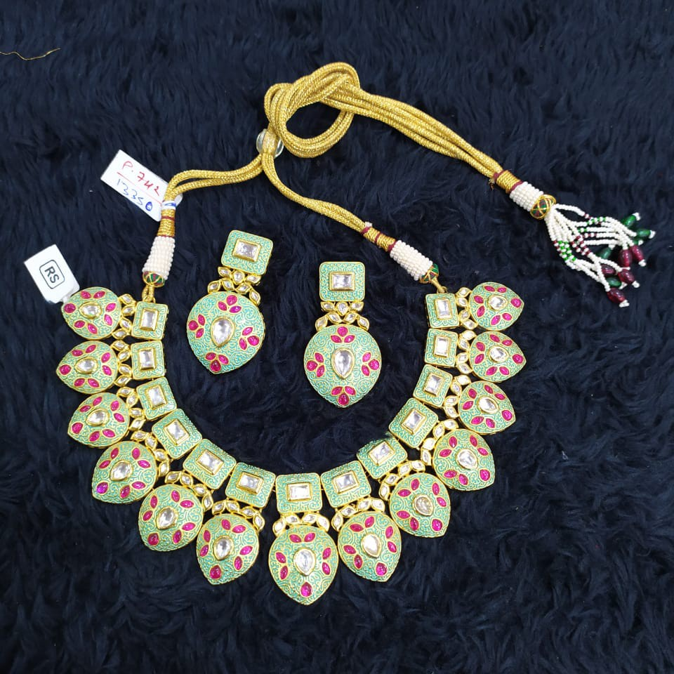 beautiful mint necklace#759