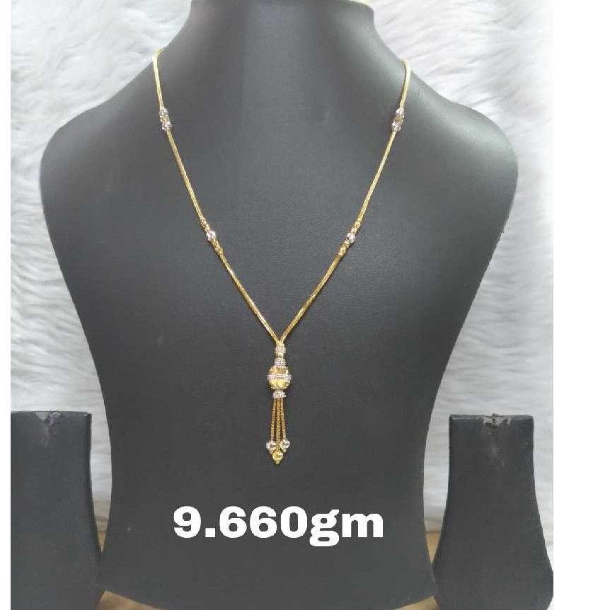 22KT Gold CZ Necklace