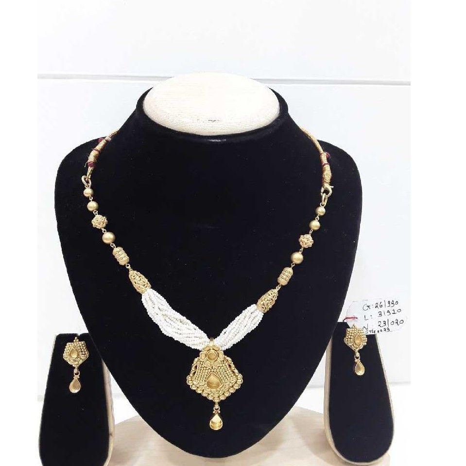 916 Antique  Fancy Gold Moti Chediyu Set