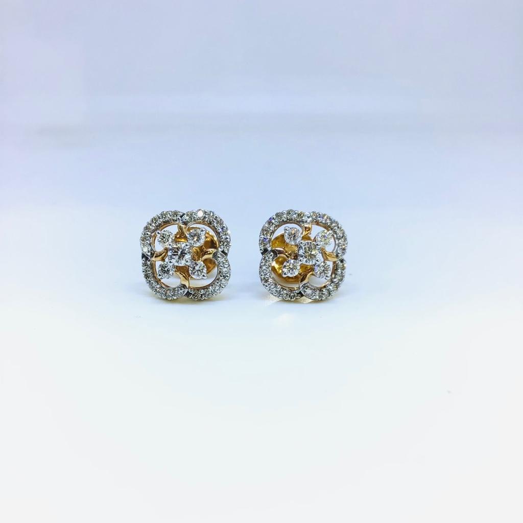 BRANDED FANCY REAL DIAMOND EARRINGS