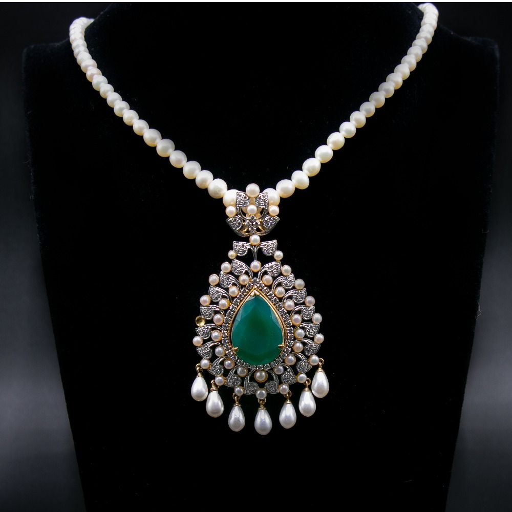 18k  gold pendant set with earrings agj-ps-151