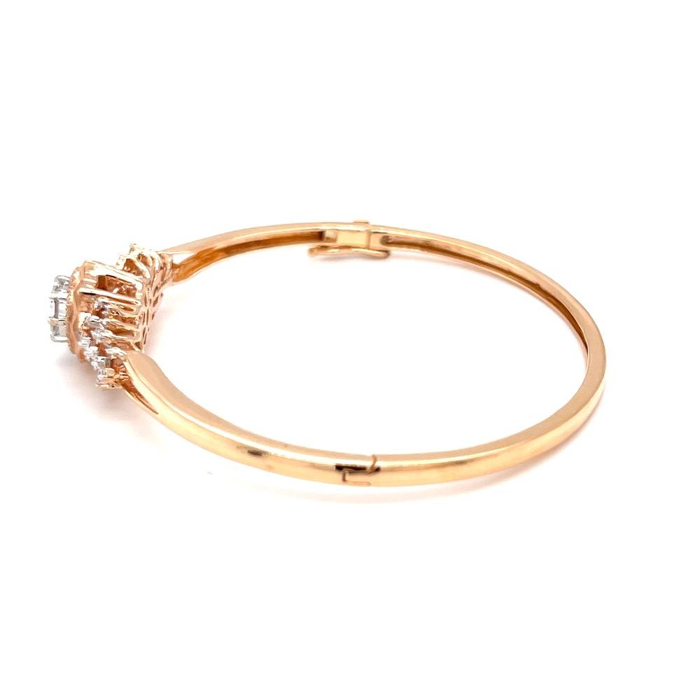 Kereina diamond bracelet in pressure set pie cut for solitaire look