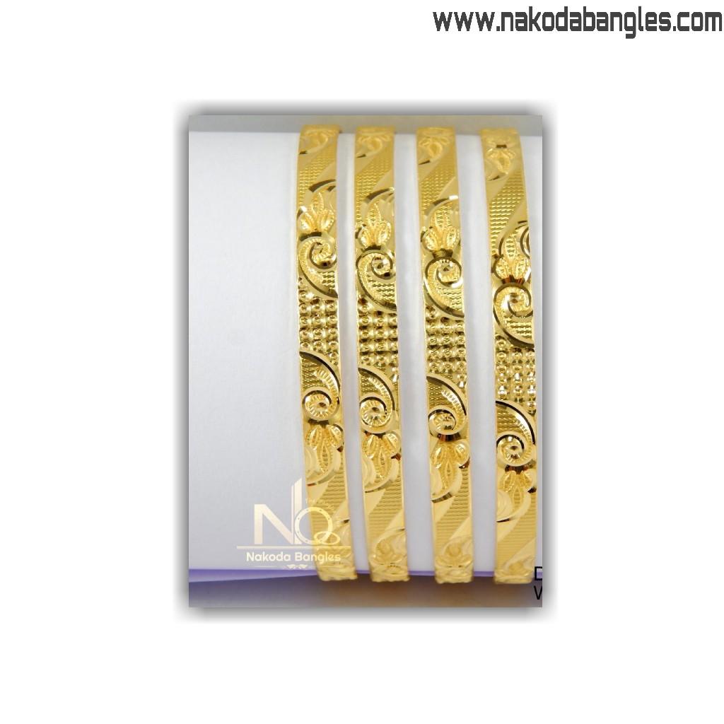 916 Gold Khilla Bangles NB - 1405