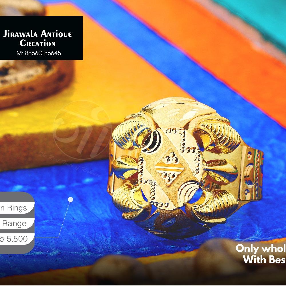 22K Designer Nazaran Gold Ring JAR-009
