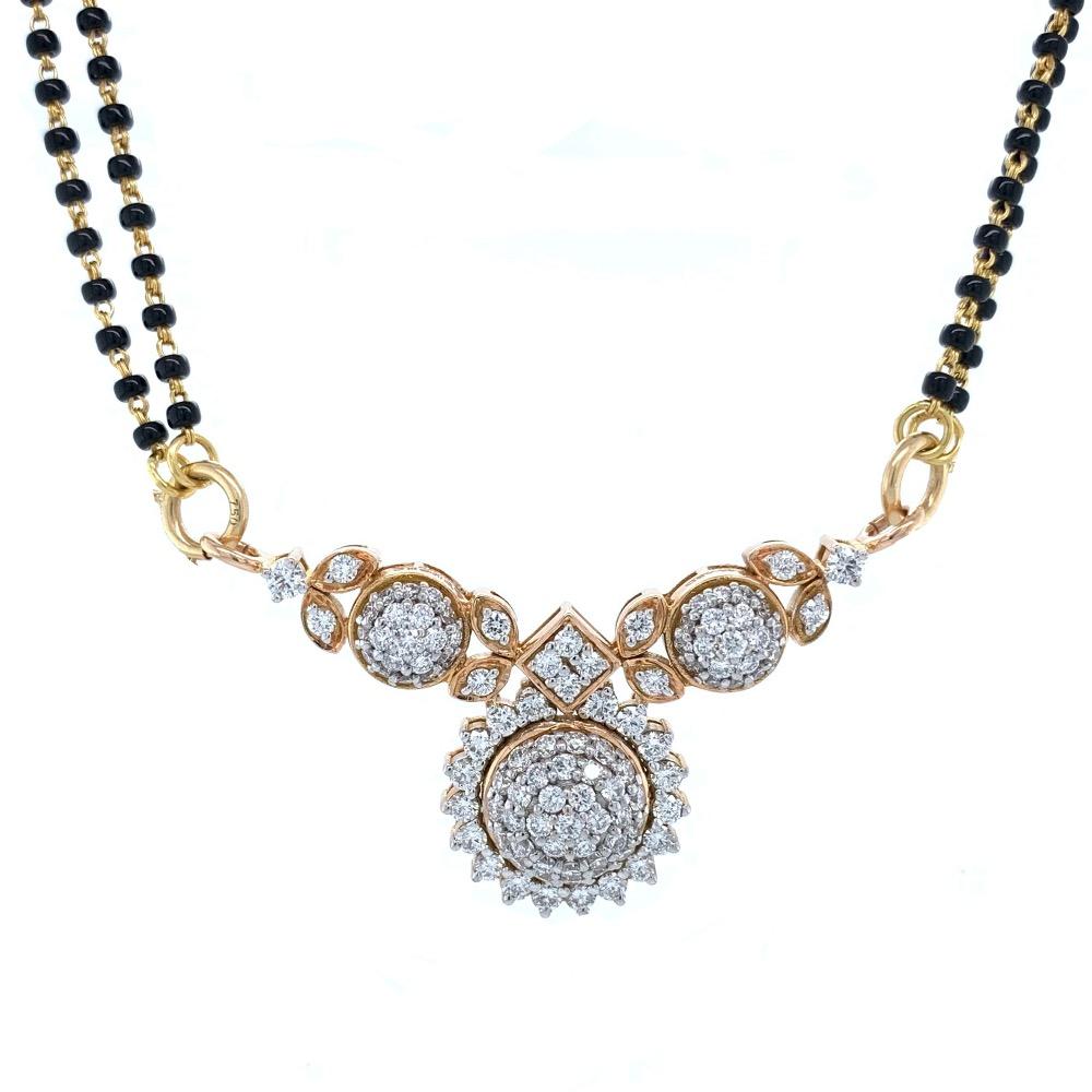 Traditional maharashtrian style vatimani pendant in 18k rose gold - 6.830 grams - vvs ef - 1.44 carats - 8dhp113