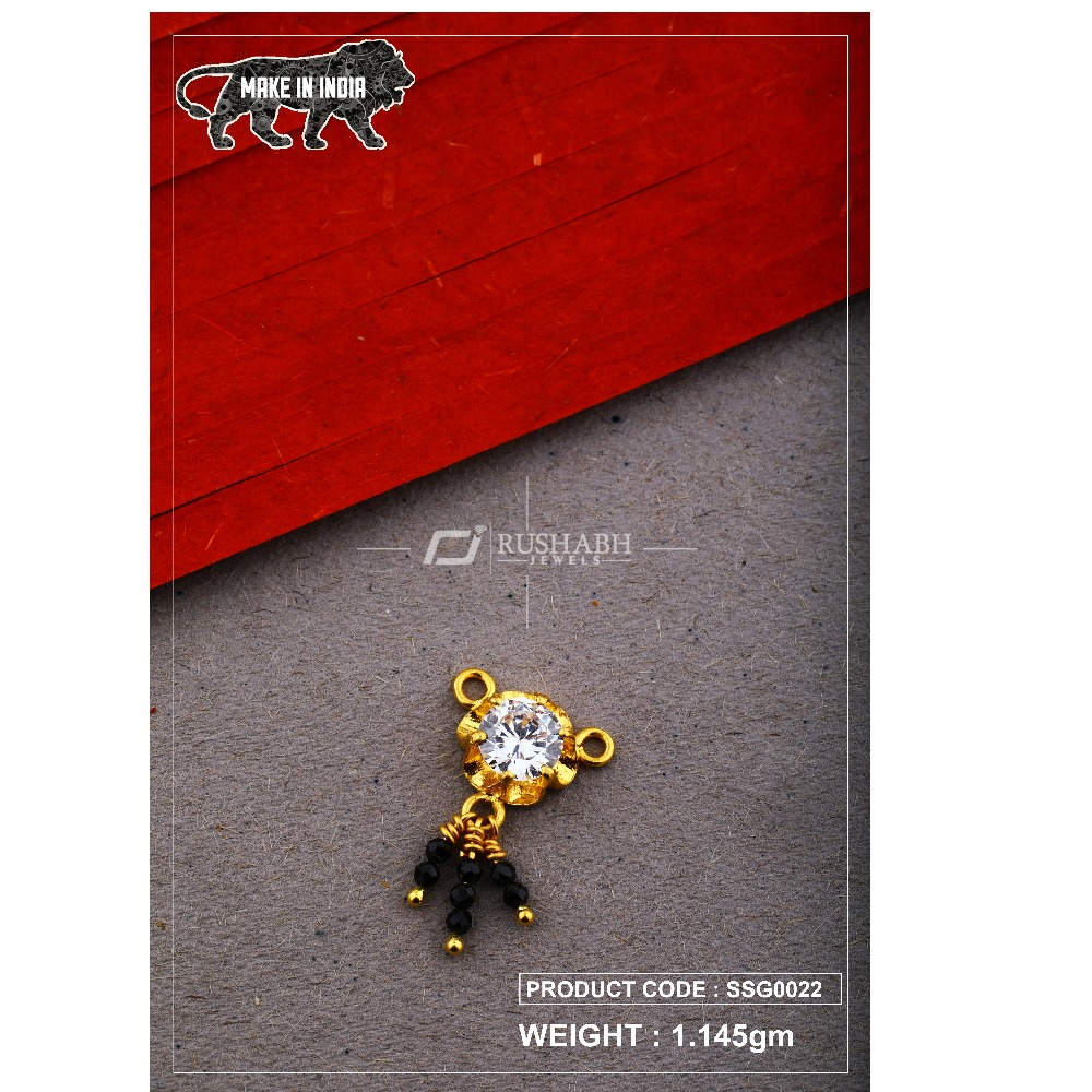 22 Carat 916 Gold Ladies singal stone msp smg0022