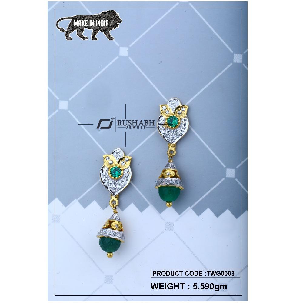 18 carat Gold ladies zummer  tops  long earrings  twg0003