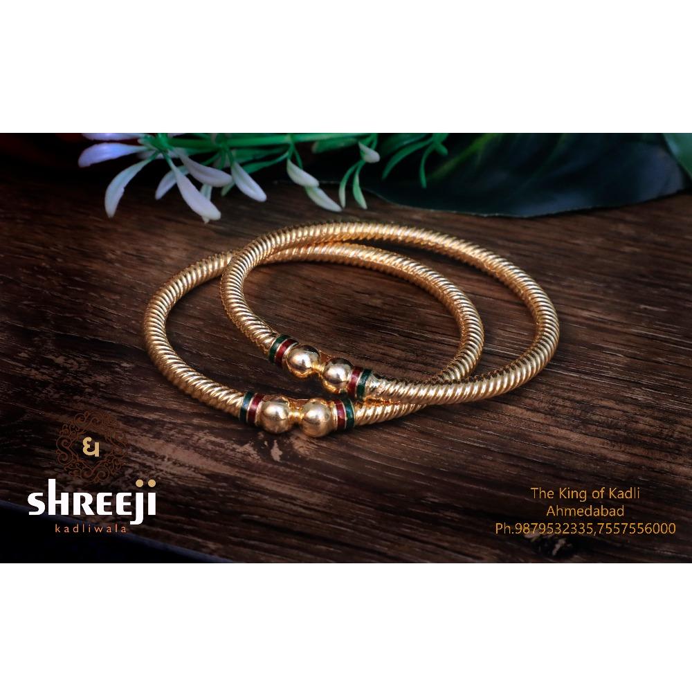 916 Gold Fancy Modhiya Copper Kadli Bangle