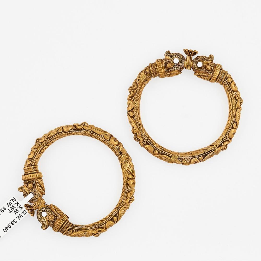 916 Gold Antuiqe Bangle SJ-2031
