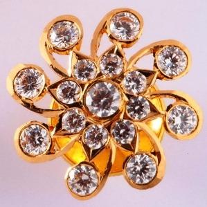 22KT gold close setting cz stylish earring for women mv-se04