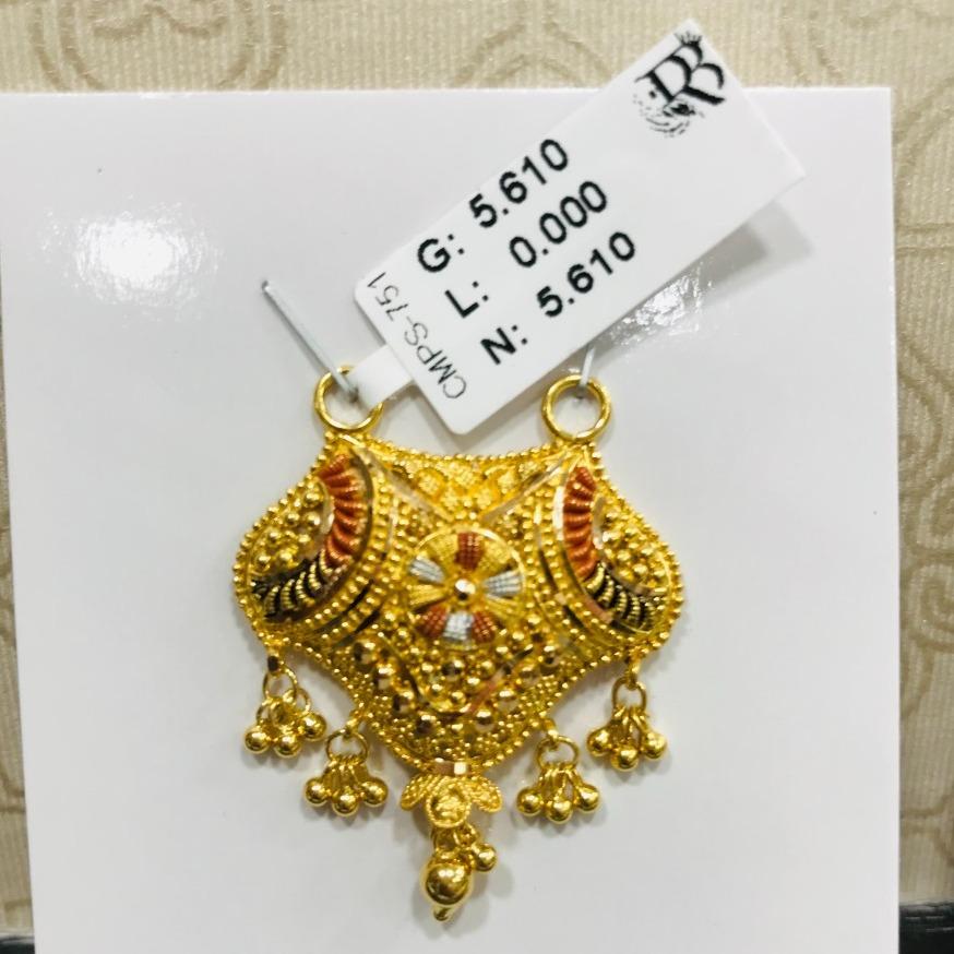 22 carat gold antiq mangalsutra RH-MN789