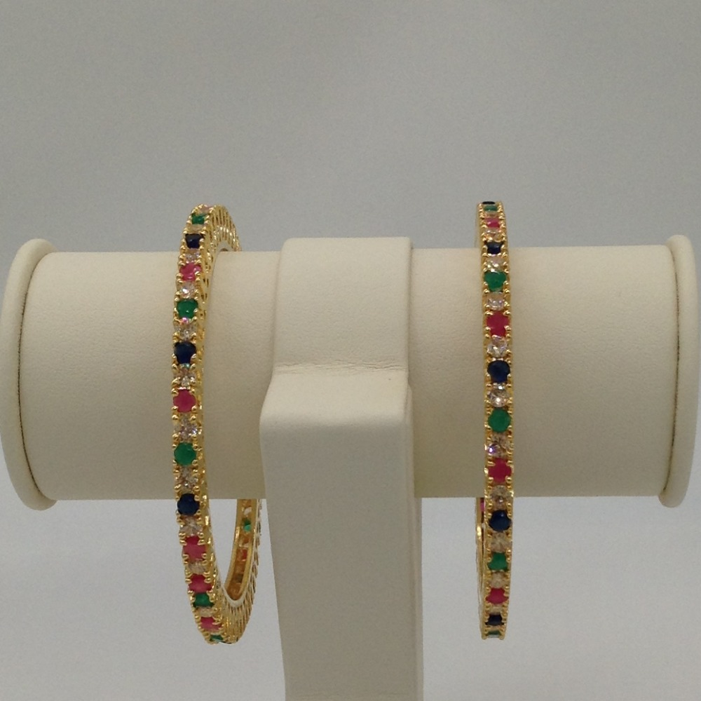 Multi Colour CZ Stones Bangles JBG0045