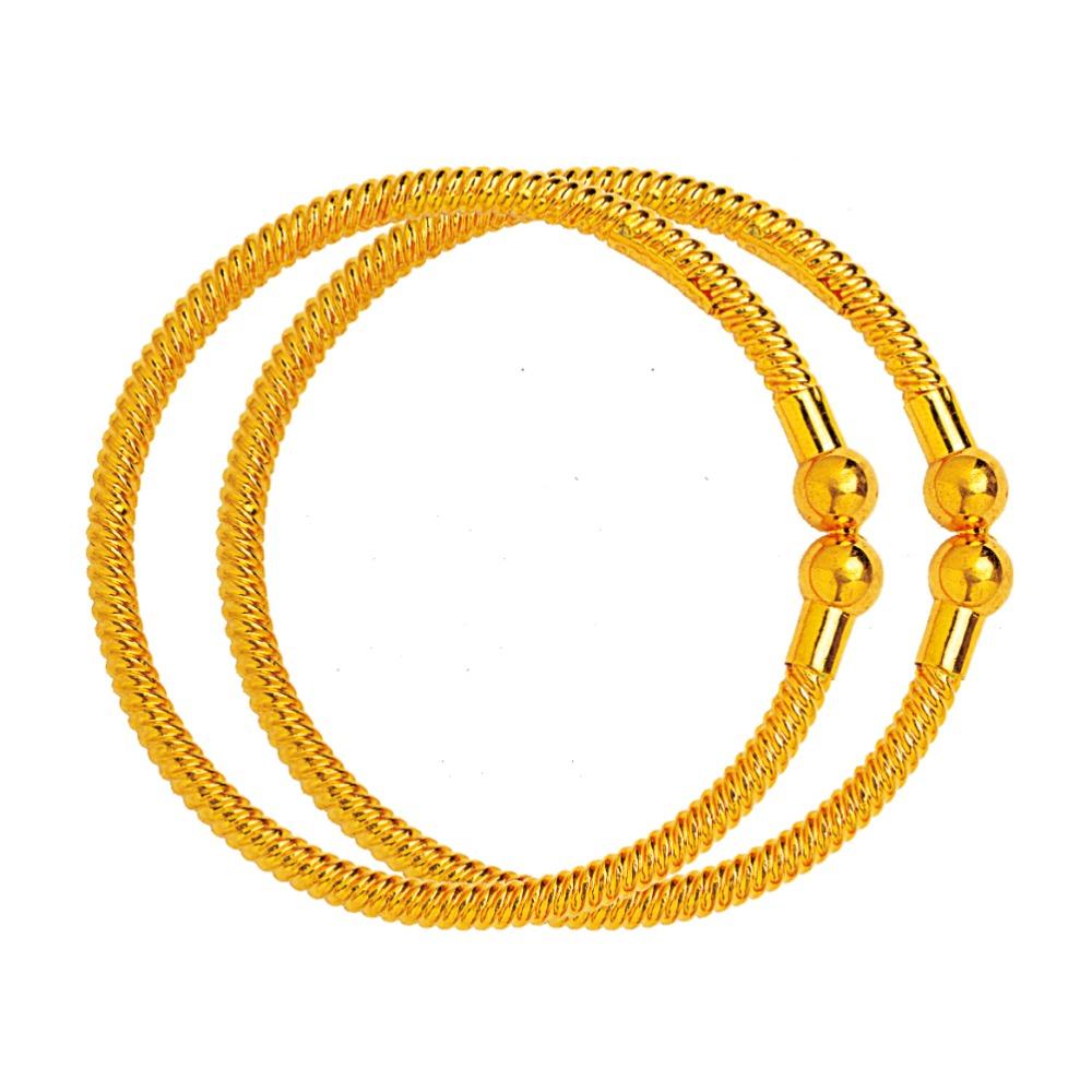 916 Plain Gold Variya Copper Kadli RJK-001