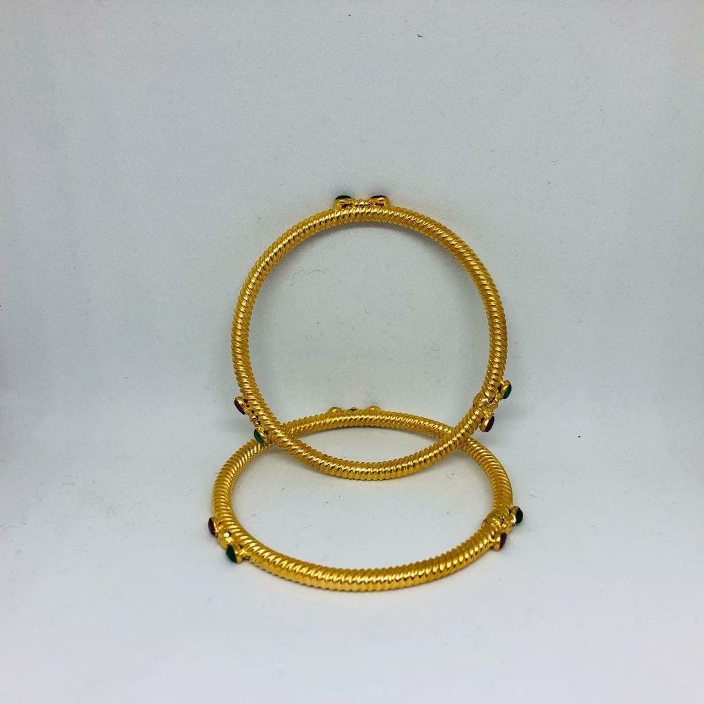 22KT/916 BEAUTIFUL GOLD COPPER KADLI BANGLE