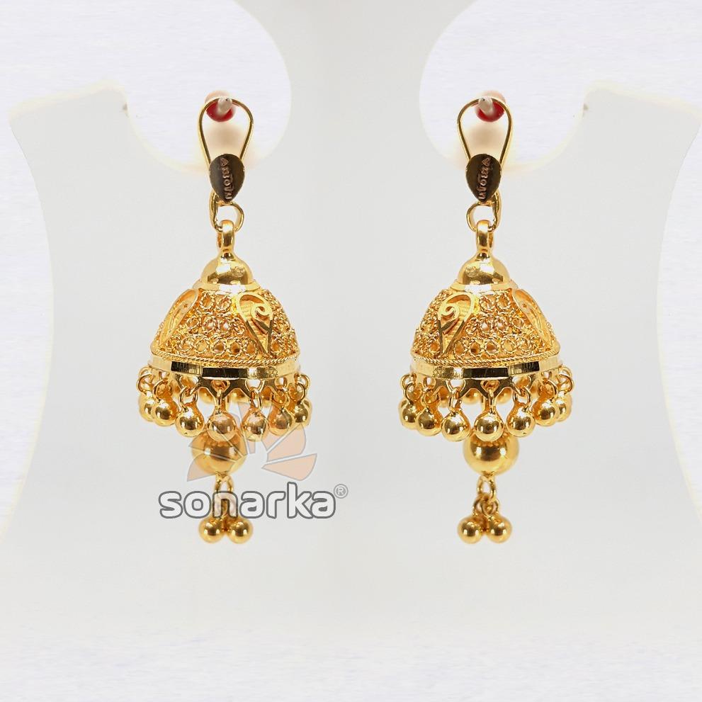 Gold earring jumar drops sk - e019