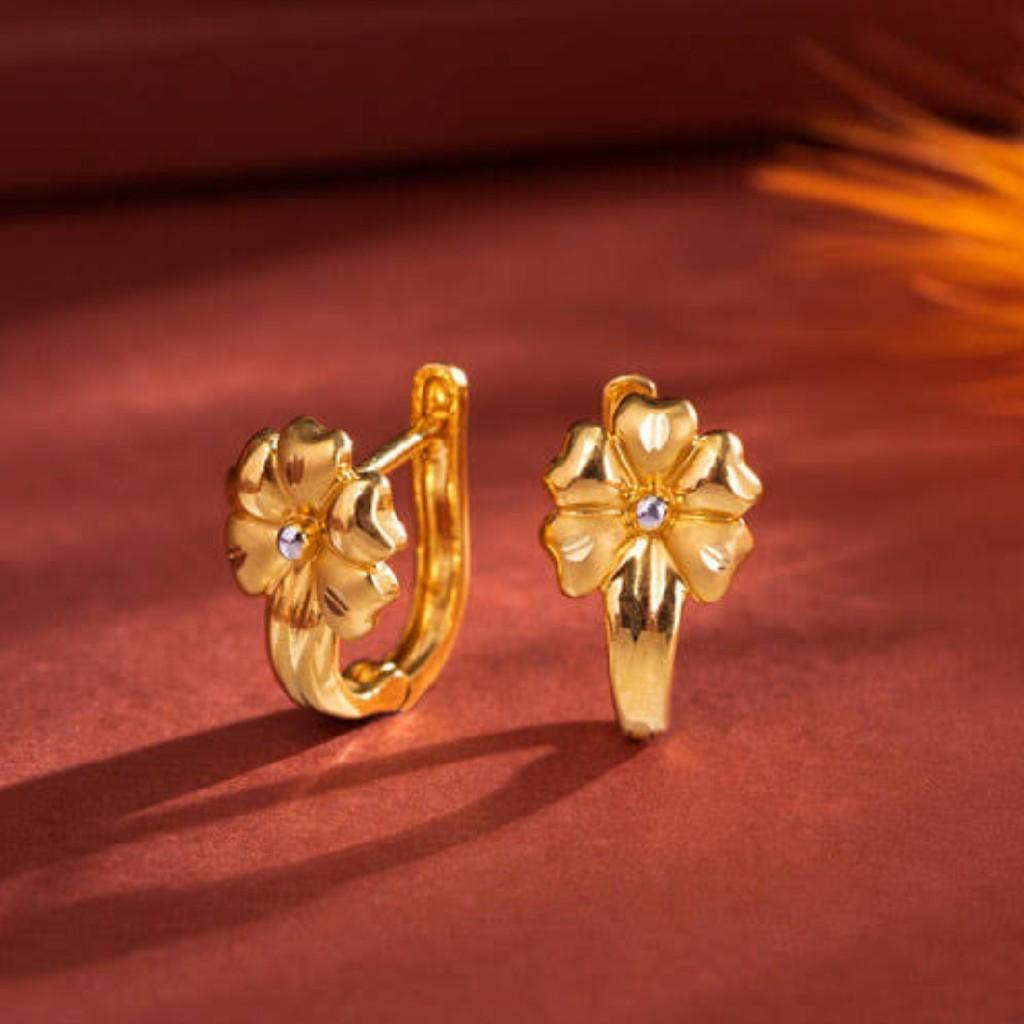 22k Gold plain earrings