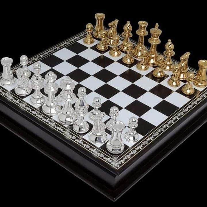 92.5 silver chessboard