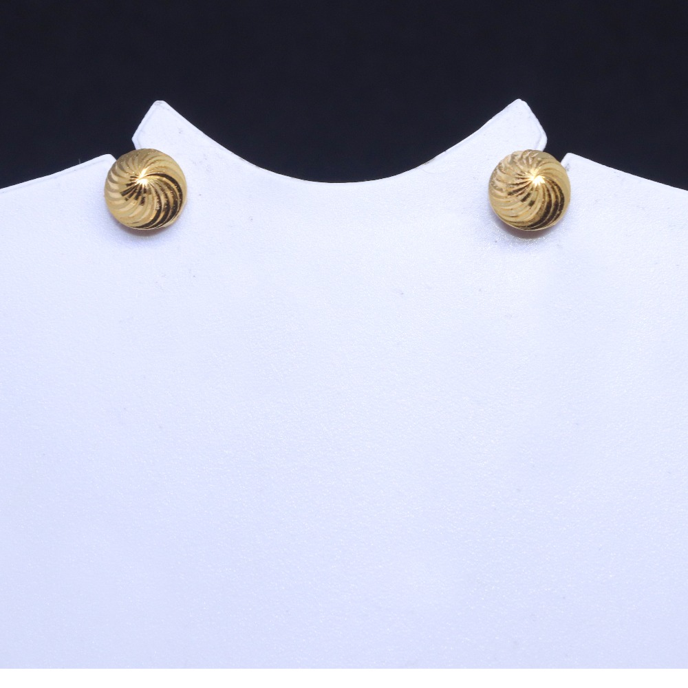 22CT / 916 Round Daily ware rawa Earring for Ladies BTG0328