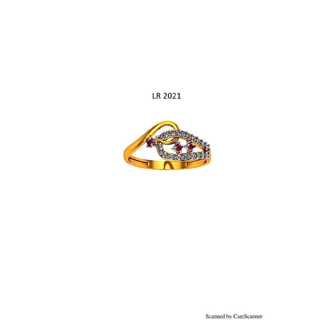 76 Gold cz Ladies ring 021