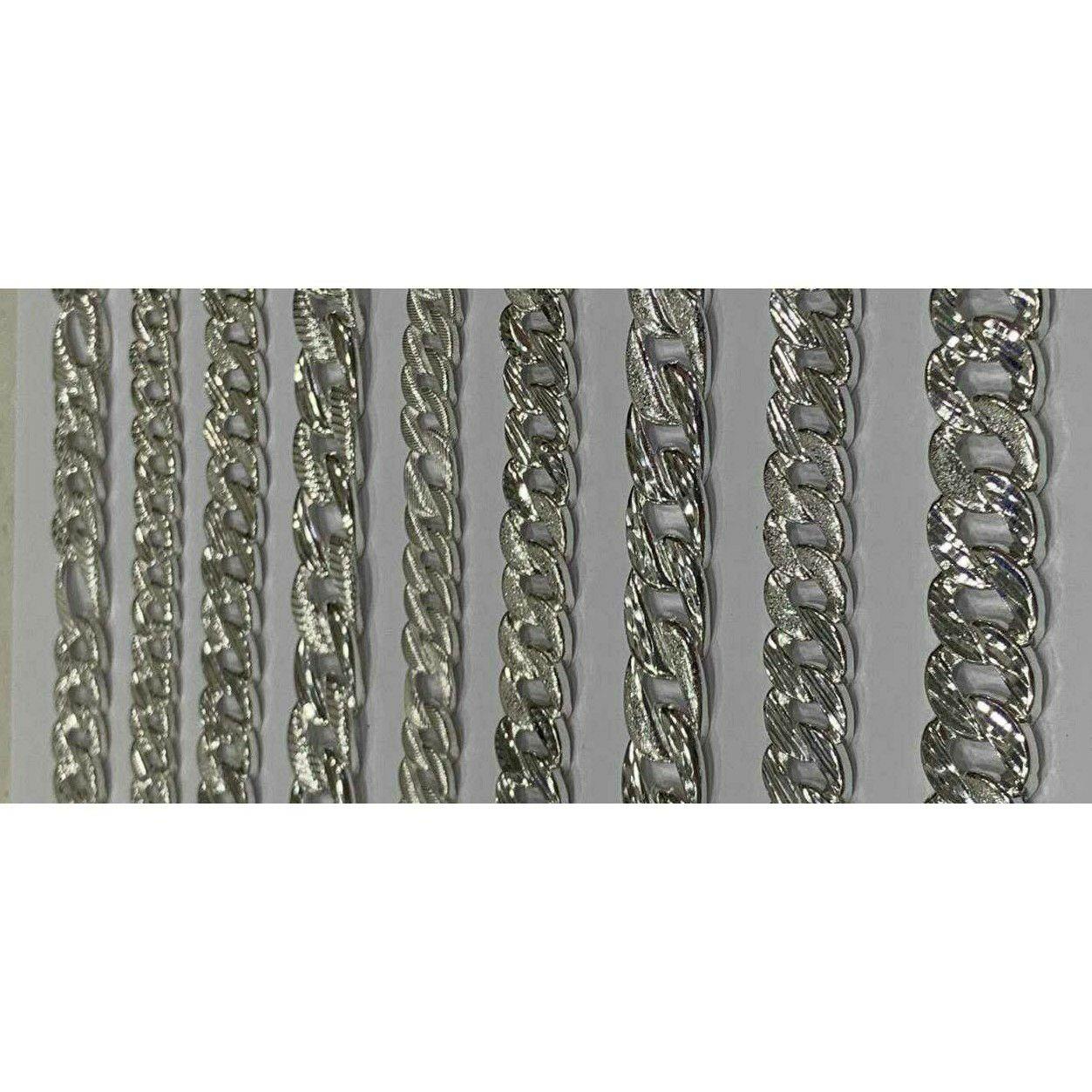 92.5 Sterling Silver Karap & Sachin Fancy Broad Chain Ms-3176